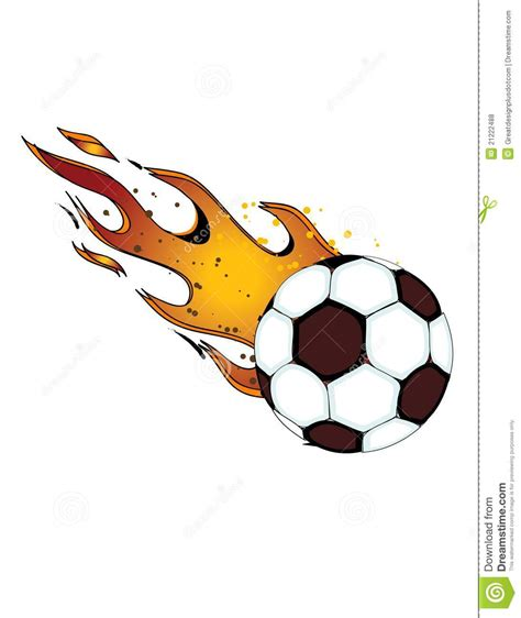 Free Clipart Flaming Soccer flaming soccerball football vector eps8 stock vector