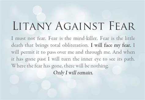 bene gesserit litany against fear frank herbert s dune pin by lori terling on words to live by