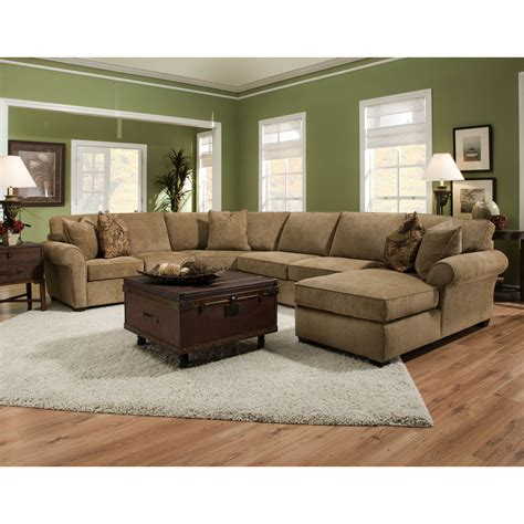 U Shaped Sectional Sofa With Chaise U Shape Brown Velvet Sectional Sofa With Panel Armrest And Left Chaise Lounge Combined With