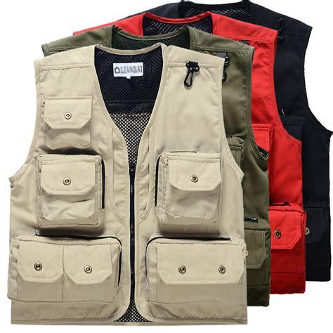 Gv M6 Jaket Vest Rompi beige summer fall canvas vest sleeveless jacket work vests mens motorcycle cotton wear for