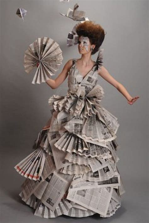Eco Fashion Research Paper by Best 25 Recycled Fashion Ideas On Recycled Dress Newspaper Dress And Paper Clothes