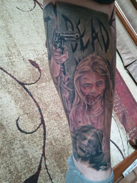 walking dead tattoo andrew lincoln jumped the stage to view a s