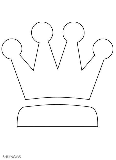template of crown king s crown free printable coloring pages