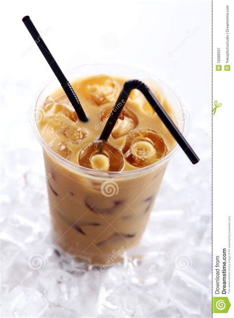 cold coffee drink stock image image  glass fresh