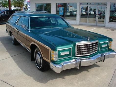 dark green station wagon ford ltd country squire for sale 1978 autos post
