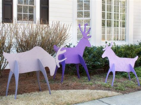 how to fix christmas lawn ornaments make easy to store yard reindeer hgtv