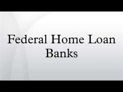 federal home loan banks