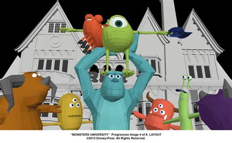 animation layout process monsters university behind the scenes from sketchbook to