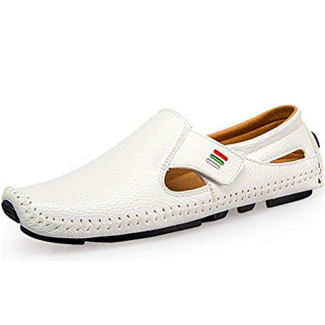 Genuine Leather Stitched Loafers ceyue s driving shoes loafers casual leather