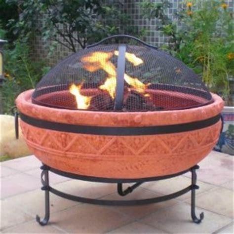 Terracotta Pit Outdoor Azteca Gas Pit Terra Cotta Gardening