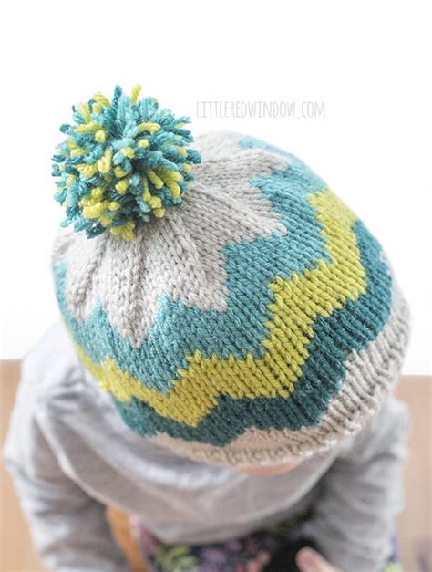 zig zag knit hat pattern fair isle zig zag chevron hat knitting pattern little
