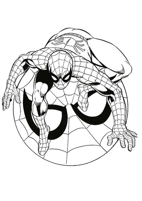 educational coloring pages spiderman ausmalbilder spiderman bild ein super helden
