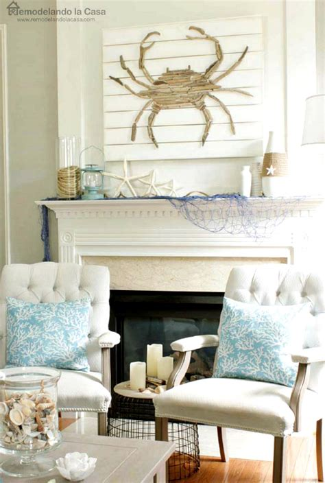 crab decorations for home coastal summer home with diy driftwood crab rope and