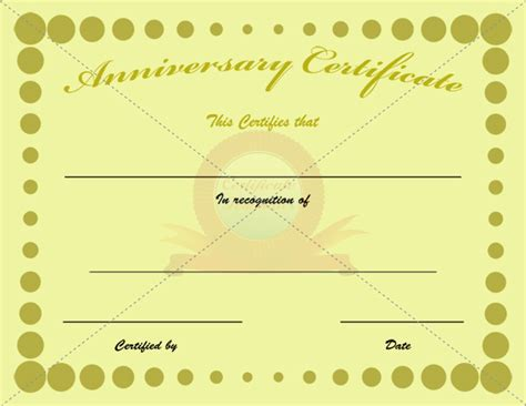 anniversary gift card template anniversary certificate template free templates data
