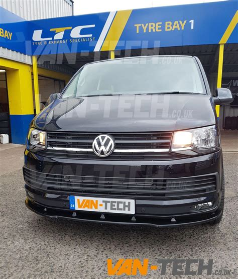 volkswagen van front vw transporter t6 van front lower splitter van tech