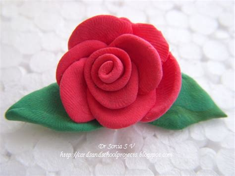 Handmade Clay Flowers - cards crafts projects handmade flowers