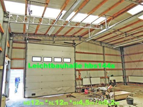 gebrauchte garagen kaufen gebrauchte stahlhalle leichtbauhalle 12x12m mit sandwich