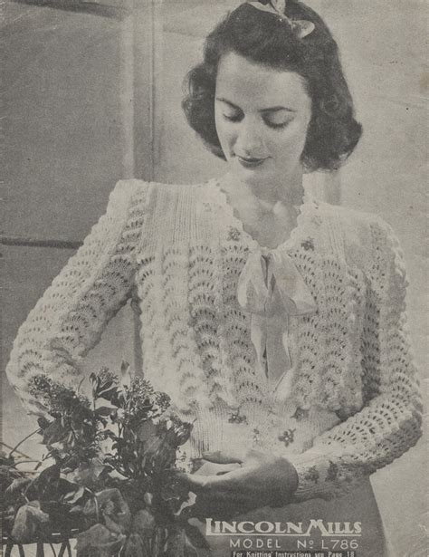 vintage pattern files the vintage pattern files 1940s knitting lincoln mills