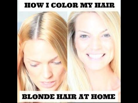 how i color hair hair at home