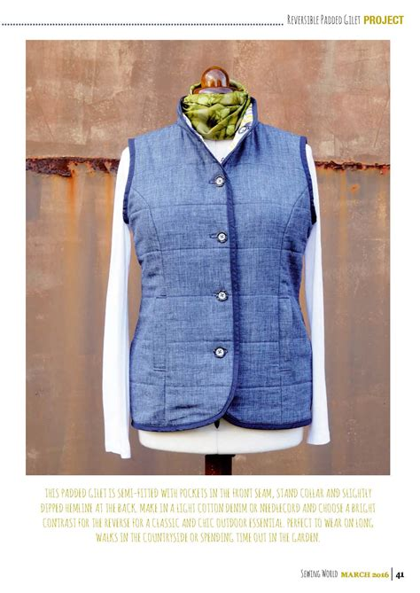 sewing pattern gilet gilet sewing pattern image collections craft decoration