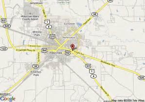 map of hton inn waycross waycross