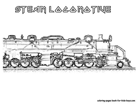 steam train free colouring pages