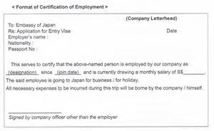 Certification Letter From Previous Employer Sample Request Letter For Certificate Of Employment Visa Application Cover Letter Templates
