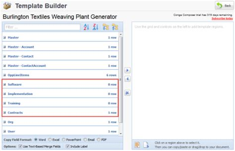 conga composer template builder frequently asked questions about using salesforce reports