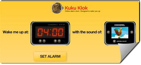 useful free alarm clock websites