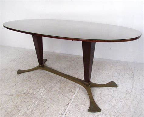 Italian Glass Dining Tables Italian Glass Top Dining Table 1950s For Sale At 1stdibs