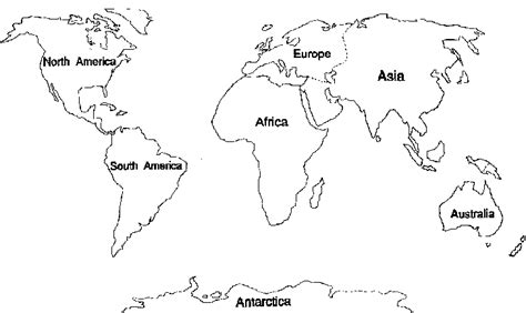 simple world map coloring page blank continents map dr odd