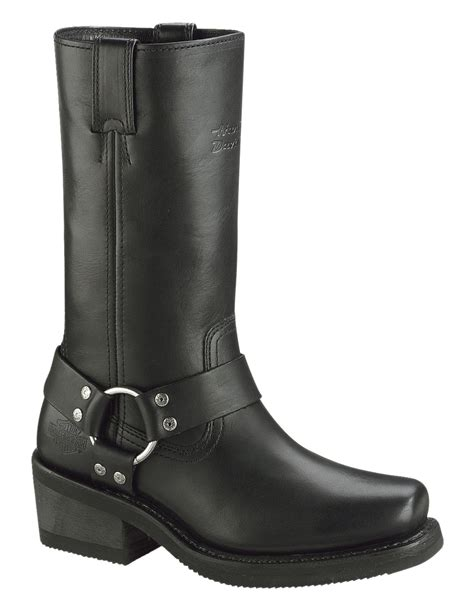 W20 Brown Simple Harley Davidson womens harley boots with exle sobatapk