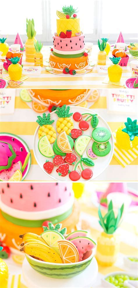 Two tti Fruity Birthday Party: Blakely Turns 2!   Pizzazzerie