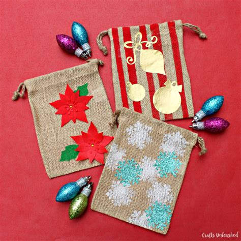 diy gift bags for the holidays step by step crafts unleashed