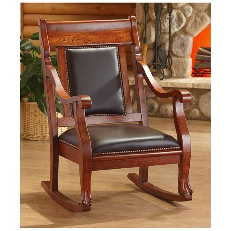 Living Room Rocking Chair Castlecreek Rocking Chair Walnut Finish 229620 Living Room At Sportsman S Guide