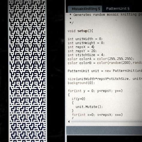 knitting pattern codes mosaic knitting pattern generator kogler s portfolio