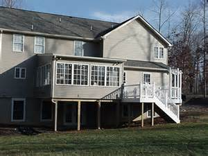 deck with sunroom deck above sunroom images