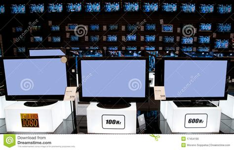 electronic bid big electronic retail store tv stock photo image 17454190