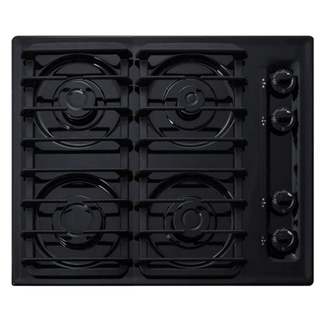 summit cooktop summit appliance 24 in gas cooktop in black with 4