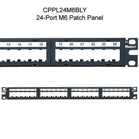 panduit visio panduit mini m6 style modular faceplate patch panels