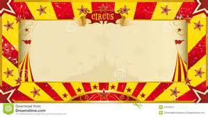 invitation grunge jaune et rouge de cirque photo stock