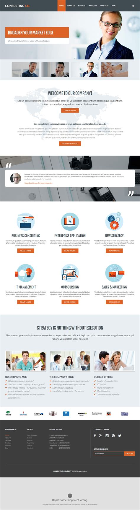 Drupal Themes Responsive Premium | consulting co premium responsive business drupal theme