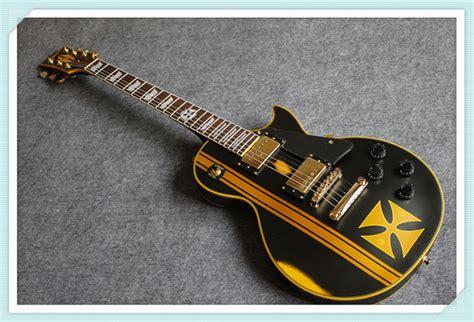 Kaos High Quality Lp high quality lp electric guitar aged hetfield signature lp guitarra iron cross model in