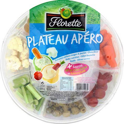 Légumes apéritif sauces Florette Florette le plateau de 600 g Vos courses en ligne avec