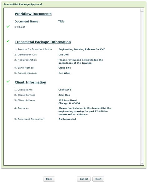 Basic Transmittal Letter Documentum Or Alfresco Engineering Document Transmittals