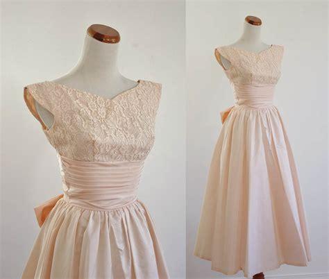 vintage 50s prom dresses prom vintage 50s prom dress pale pink lace taffeta skirt