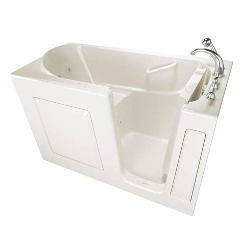 safety bathtubs shop safety tubs 59 in biscuit gelcoat fiberglass walk in