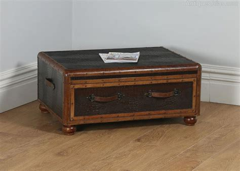 Antiques Atlas English Brown Leather Suitcase Shaped Suitcase Coffee Table