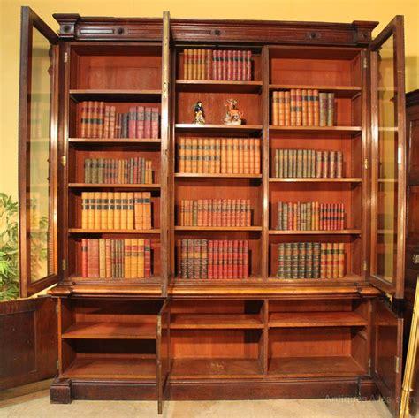 Antique Victorian Oak Library Bookcase Antiques Atlas Bookshelves Library