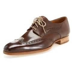 Brown leather wingtips carlos santos mensfash